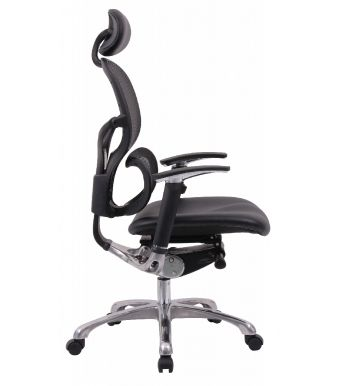 Wave Mesh Back Leather Seat With HR-Side