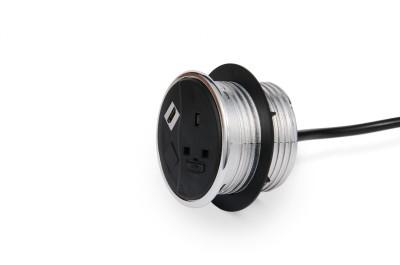 PortHole Module - Black With Fixing Nut