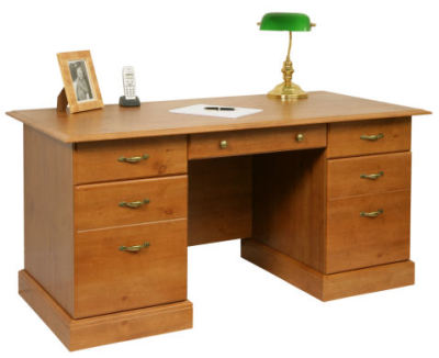 D10418 French Gardens Executive Desk Dressed