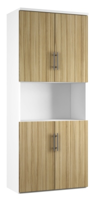 Combinantion Cupboard - Light Wood Grain (FLAT)