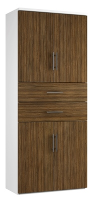 Combinantion Cupboard Variant 2- Dark Wood Grain (FLAT) (1)