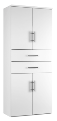 Combinantion Cupboard Variant 2- White (FLAT)