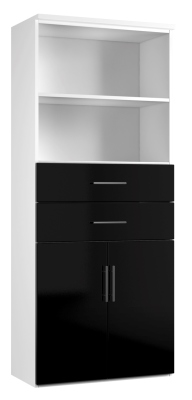 Combinantion Cupboard Variant 3 - Black (FLAT)