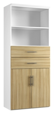 Combinantion Cupboard Variant 3 - Light Wood Grain (FLAT)
