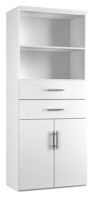 Combinantion Cupboard Variant 3 - White (FLAT)
