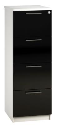 Filing Cabinet 4 Drawer Black V1 01 (FLAT)