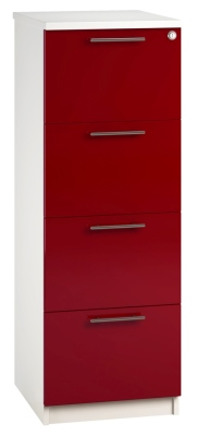 Filing Cabinet 4 Drawer Red V1 01 (FLAT)