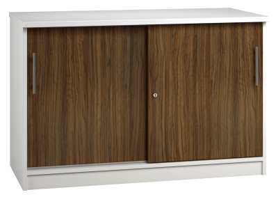 Credenza Unit - Dark Wood Grain (FLAT) (1)