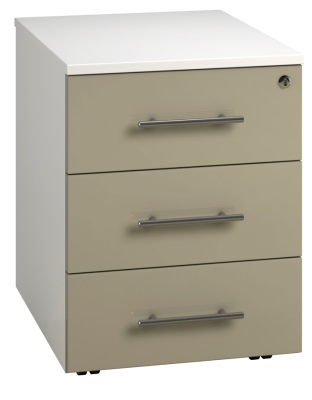 Low Mobile 3 Drawer Unit - Stone (FLAT) (1)