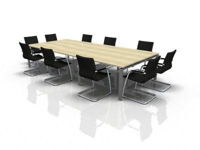 Rectangular Meeting Table Extension 5