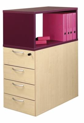 TOP BOX Prune Sur Caisson 4T Imitation Erable
