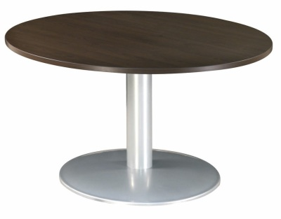Table Ronde Dia 120 Imitation Wenge Pied Tulipe Alu