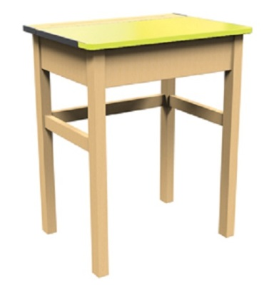 Single Locker Desk Yellow Top