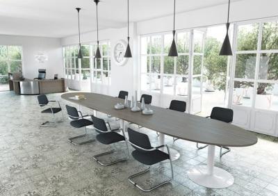 B-office-accueillir-tables-modulaires-tonneaux-et-rondes-tables-modulaires-pied-tulipe-avec-extension-decor-imitation-cedre-blanc