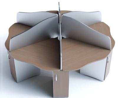 Offimat 6 Way Cluster Desks