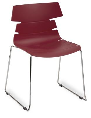 Hoxton Side Chair Frame B 360001 BURGANDY