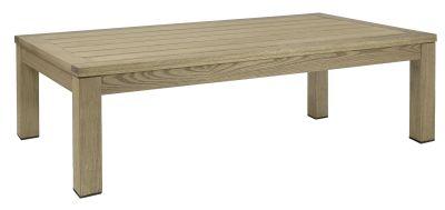 Quad Rectangular Coffee Table, Weathered Inish
