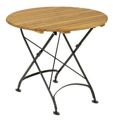 Parade-folding-round-table,-850-mm-diameter,-oiled--black-compressor