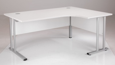 White Right Hand Corner Desk