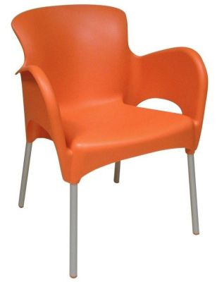 Orange Outdoor Thermoplastic Chair