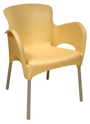 Yellow Outdoor Thermoplastic Chair