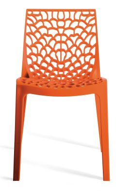 Orange Designer Poly Chair