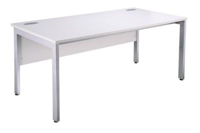 Modern White Bench Desk And Pedestal