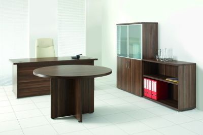 Regency Executive Office Space In A Dark Walnut Finish