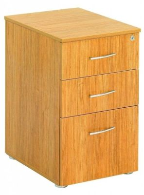 Regency 3 Drawer Under Desk Pedestal In A Light Walnut Finish