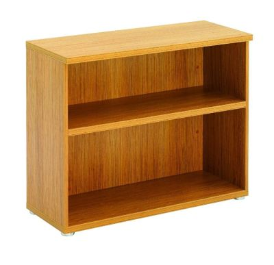Regency Low Single Shelve Bookcase In Light Walnut