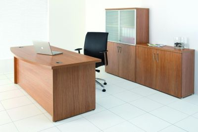 Regency Executive Office Space In A Light Walnut Finish