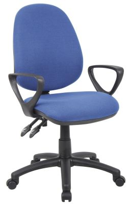 Blue Pricebuster Operator Chair With Height Adjustable Arms
