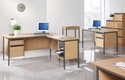 Free Next Day Maddellex Office Furniture Range In A Beech Finish