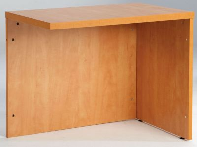 Prime Office Desk Return In A Lucida Pear Finish