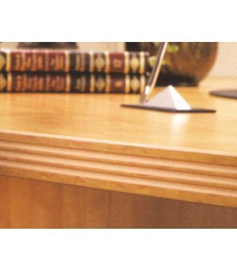 Office Desk With Serrated Edge Detail