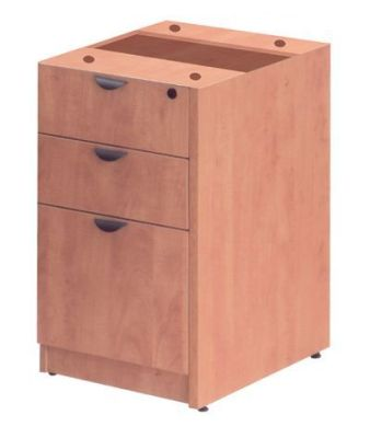 Prime Three Drawer Under Desk Pedestal In A Lucida Pear Finish