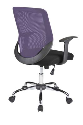 Purple Bisoto Chair Angled Rear View