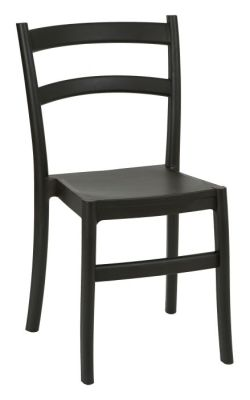 Cleo Stackable Poly Chair Black