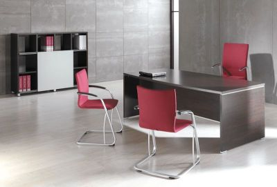Contemporary Office Design In A Striking Wenge Finish