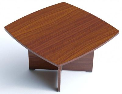 Caba Meeting Room Table With Curved Edges In A Stunning Walnut Finish