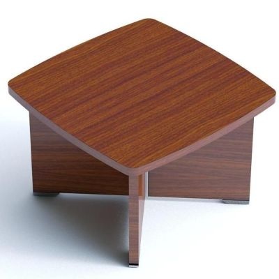 Modern Caba Coffee Table With Cruciform Leg Design In A Walnut Finish