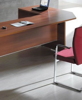 Caba Office Desk Link In A Walnut Finish
