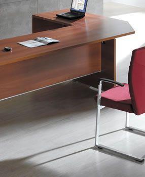 Caba Office Desk Link In A Walnut Finish