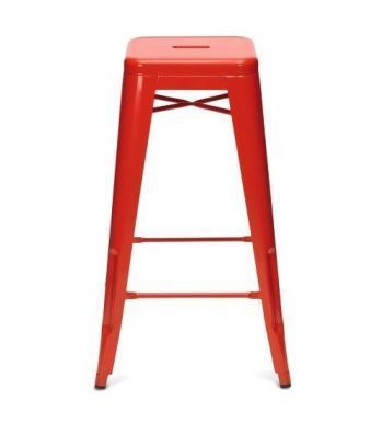 Xavier High Stool In Red