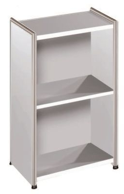 Artoline Low Bookcase Unit Narrow In White