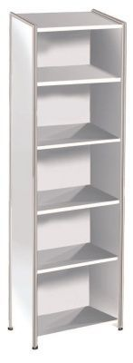 Artoline High Bookcase Unit In White
