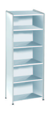 Artoline High Bookcase Unit Wide In White
