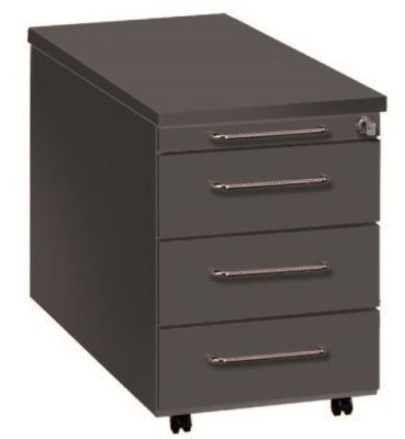 Artoline Desk Pedestal 4-drawer In Black
