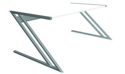 Zed Style Designer Desk In White