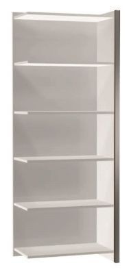 Zed Style Tall Extension Bookcase Wide In White